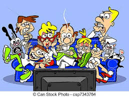 family watching tv clipart. on tv - csp7343784 family watching tv clipart v