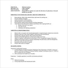 Duties Of A Medical Assistant For A Resumes Medical Assistant Tasks Under Fontanacountryinn Com