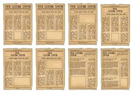 Newspaper Psd Template Download Old Newspaper Template Photoshop Free Download Vintage Teran Co