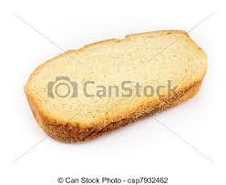 Bread Slice Slice Of White Bread Isolated On White