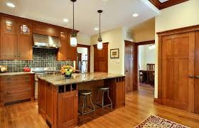 Quarter Sawn Oak Kitchen Cabinets Kitchen Craftsman With Ceiling Lighting Craftsman Island  | Beeyoutifullife.com