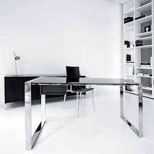 modern home office design displaying. Design. Innovative Office Large-size Desk For Environment Furniture Glass Computer With Metal Frame. Modern Home Design Displaying O