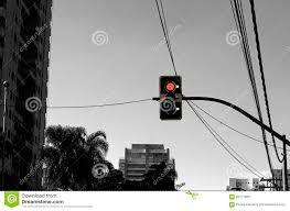 Sao Paulo Red Light Traffic Signal Stock Image Image Of Road City Danger