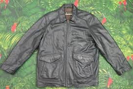 details about columbia black heavy leather er motorcycle jacket men s size large l g