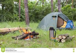 camping in the woods. Download Camping In The Woods. Stock Photo. Image Of Campfire - 71807408 Woods T