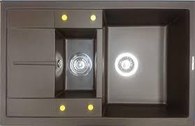 <b>Кухонная мойка LAVA D.4</b> (LAVA чёрный металлик) купить в ...