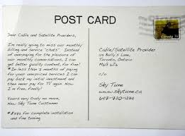 Postcard How To Address A Dear John Postcard To Canadas Cable Tv Companies The Deltiology