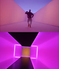 still from drake s with james turrell s the light inside 1999