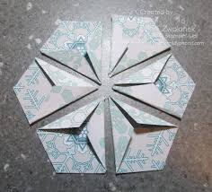 Mini Photo Tutorial Hexagon Punch Star Fold Card Scrap