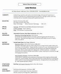 Resume Examples Veterans Resume Examples