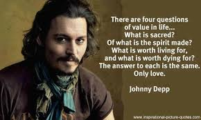 Johnny Depp Love Quotes Beauteous Johnny Depp Best Love Quote The Best Quotes Picture