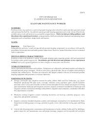 Property Maintenance Job Description For Resume Agreeable Maintenance Duties Resume In Building Maintenance Job 23
