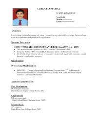 Resume Format For Job Wonderful Resume For Job Application Sample Resume Format For Job Abroad Cover