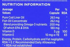 seven seas pure cod liver oil high strength with omega 3 plus vitamins d e