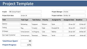 free xcel project tracking template free excel project tracking template