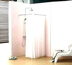 curved shower rod shower rods shower rods corner shower rod small shower curtains image of