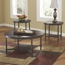 round coffee table sets susan piece set glass tables furniture side for living room end extraordinary ashley black wood large accent skinny where to