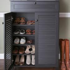 baxton studio harding wood shoe storage cabinet in dark brown espresso