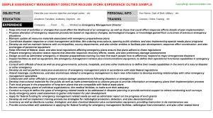 Emergency Management Resume Templates Best of Emergency Management Director Resume Resumes Templates