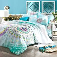 turquoise bedspreads turquoise aqua blue purple and yellow bohemian tribal style circle print pattern full queen