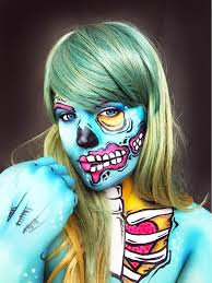 pop art zombie makeup tutorial more