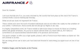 Customer Service Apology Email Air France To Shrink Like Alitalia Apology Letter Delta
