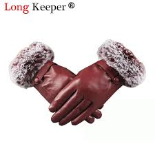 luxury imported real rex rabbit fur leather gloves women black red sheepskin leather winter glove genuine thick warm gloves from duoyun 14 28 dhgate com