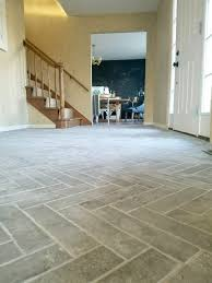 Tile flooring Stone Herringbone Brick Tile Floors Home Depot Entry Progress Herringbone Brick Tile Floors House For Six