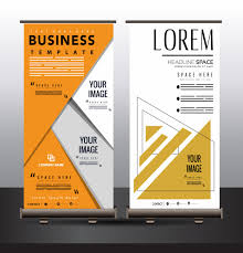 Create A Event Flyer Free Business Poster Standee Roll Up Design Geometric Decor Free