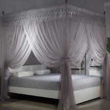 Bed Mosquito Nets Double Layer Canopy Set Curtain Frames Wedding Bed ...