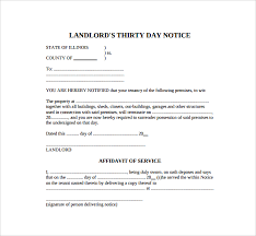 downloadable 30 day notice template thirty day notice letter