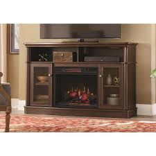 tolleson 56 in tv stand infrared bow front electric fireplace