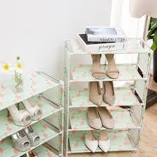 simple <b>Creative</b> Home Multi-Function <b>Shoe Rack</b> Dustproof Fabric ...