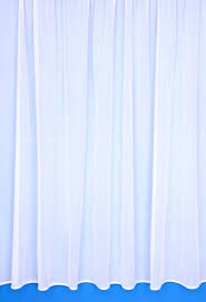 eva net curtains plain white