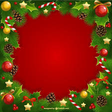 Christmas Photo Frames Templates Free Christmas Frame With Mistletoe Vector Free Download
