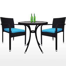 balcony 2 chair bistro set blue cushion 2 year warranty