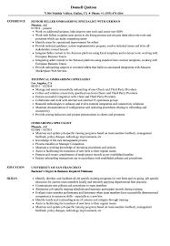 Onboarding Specialist Sample Resume Onboarding Specialist Resume Samples Velvet Jobs 1