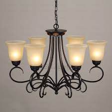 living attractive wrought iron chandelier 42 rustic 6 light glass shade twig black svlt02291639593 1 wrought