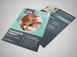 Spa Brochure Template Cool Therapy Flyer Ibovjonathandedecker