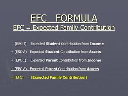 Estimated Expected Family Contribution Efc Chart 2016 Estimated Expected Family Contribution Efc Chart