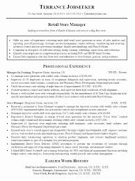 Sample Retail Store Manager Resume Objective Fresh Ideas Store