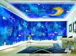 3D 12 Constellations Moon Ceiling Entire Living Room Wallpaper Wall Mural  Art Decor IDCQW-000187