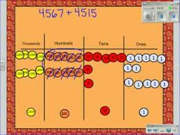 Place Value Chart With Disks Addtion Using Place Value Discs
