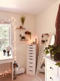 Cute Rooms With Lights Insta Avemoser White Walls Fairy Lights Green Plants