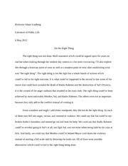 do the right thing essay professor adam lindberg literature of do the right thing essay professor adam lindberg literature of public life 6 2012 do the right thing the right thing was not done bold statement