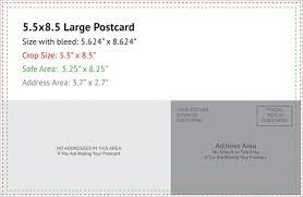 Postcard Size Card Oversized Postcards Oversized Postcard Template