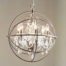 brushed nickel crystal chandelier lighting 6 light brushed nickel chandelier at regina brushed nickel crystal