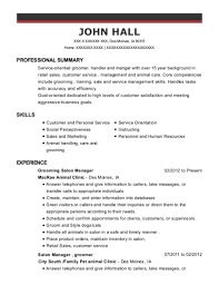 Salon Manager Resume Enchanting Best Grooming Salon Manager Resumes ResumeHelp