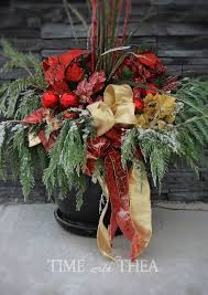 how to make an outdoor christmas arrangement for the garden, christmas  decorations, container gardening