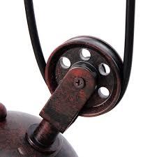 Industrie Vintage Hängende Einziehbare Riemenscheibe Pendelleuchte Deckenleuchte Halter Kronleuchter Lampe Leuchte Fit Für E27 Lampe Ac100 240v Rost